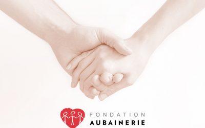 À la Fondation Aubainerie, on aime vous dire merci.